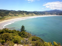 New Chum Beach, Coromandel, New Zealand, which has been voted as one of the world`s top 10 beaches. Royalty Free Stock Photos