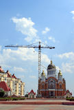 New church. Is building in Kiev, Ukraine Stock Photos