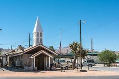 New church in Beatty, Nevada. Beatty,Nevada,USA -July 10, 2016 : The new church on the Main Street in Beatty Stock Photography