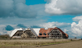 New Church being built in the Fens. New church The Ark under construction in the Cambridgeshire fens royalty free stock image