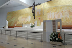 New church of Fatima altar Royalty Free Stock Images