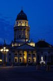 New church at gendarmenmarkt in berlin Royalty Free Stock Image