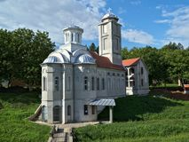 New church in monastery Privina Glava, Šid, Serbia.  Royalty Free Stock Images