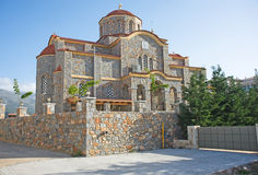New church at Sissi, Crete. Stock Image