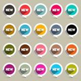 New Circle Labels Set Vector Royalty Free Stock Photos