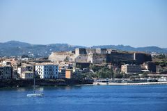 The new citadel in Corfu Town Greece Royalty Free Stock Image