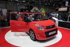 New Citroen C1 city car at the AMI. Leipzig, Germany Royalty Free Stock Image