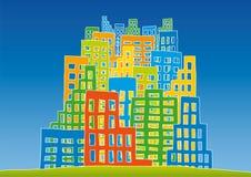 New city. Stylized landscape of a new city Royalty Free Stock Photography