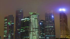 New City center night view, on December 13th, stock footage