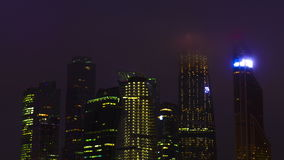 New City center night view, on December 13th, 2014 stock video footage