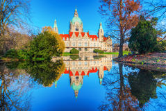 New City Hall in Hanover, Germany Stock Image