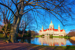 New City Hall in Hanover, Germany Stock Photography