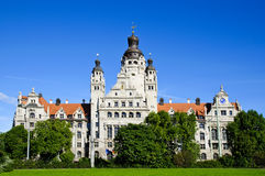 New city hall in Leipzig Royalty Free Stock Images