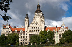 New city hall of Leipzig Stock Photography