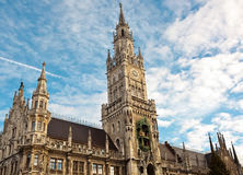 New city hall at Marienplatz Munich Stock Photo