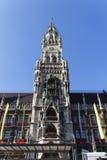 New city hall of Munich at Marienplatz, Germany, 2015 Stock Photography