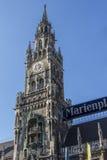 New city hall of Munich at Marienplatz, Germany, 2015 Stock Images