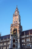 New city hall of Munich and Mariensaeule Royalty Free Stock Photography