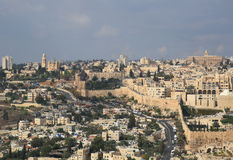 New city and old city of Jerusalem Stock Images