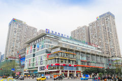 New city plaza. At chengdu,china.This is a bustling place at chengdu.Photo is taken on 3th April 2011 stock photography