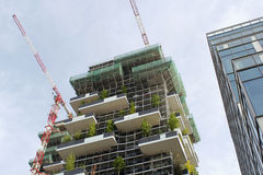 New city skyline view. 2014 international highrise award bosco verticale Stock Image