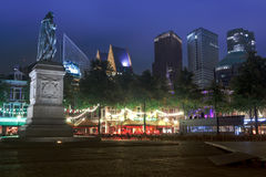 New Night Cityscape of The Hague stock images