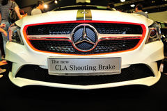 The new CLA Shooting Brake of the Mercedes-Benz on display during the Singapore Motorshow 2016 Royalty Free Stock Images