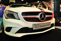 The new CLA Shooting Brake of the Mercedes-Benz on display during the Singapore Motorshow 2016 Royalty Free Stock Image