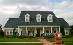 New Classic Style House. New classic design house in suburban neighborhood; new old house royalty free stock photo
