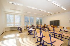 New Classroom Royalty Free Stock Photos