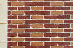 New and clean brown brick wall. Background Royalty Free Stock Images