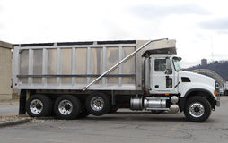 New Clean Dump Truck. At Truck Sales Dealer Royalty Free Stock Images