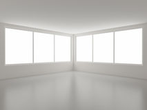 New clean interior, corner and windows. Clipping path for windows included Stock Image