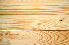 New clean planks of spruce and pine wood - Textured background Royalty Free Stock Image