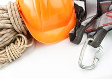New climbing equipment Stock Image