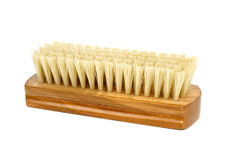 New clothes (or shoe) brush with wooden handle Royalty Free Stock Photo