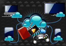 New cloud technology. With gadgets Stock Photos