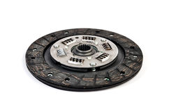 The new clutch disc under the white background stock photography