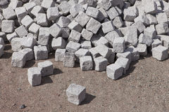 New cobble stone. Waiting to be used Stock Image
