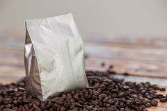 New Coffee Foil Bag Stock Photography