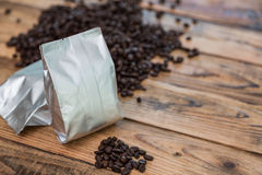 New Coffee Foil Bag Royalty Free Stock Images