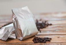 New coffee foil bag Stock Photo