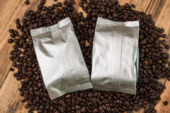 New coffee foil bag Stock Image