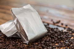New coffee foil bag Stock Images