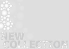 New Collection Banner. New collection tender pale tones banner template Royalty Free Stock Image
