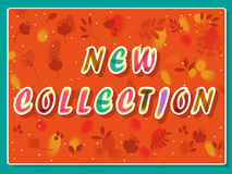 New collection inscription with floral background Royalty Free Stock Images