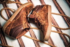 A new collection of men's shoes Royalty Free Stock Image