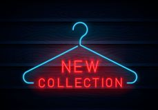 New Collection neon sign. royalty free illustration