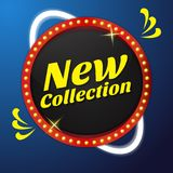 New Collection Vector Icon Button Design stock illustration