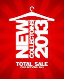 New collections 2013 design. New collections 2013 design template Royalty Free Stock Images